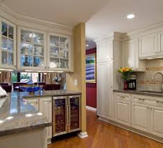 Glass Cabinet For Kitchen Interior Design Awesome Sleek Glass Front Kitchen Cabinets Set In