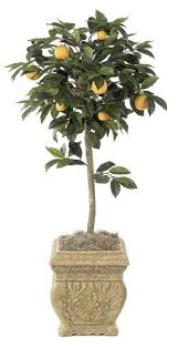 Artificial Topiaries - artificial topiary trees flower topiary 4 5 feet orange fruit