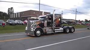 kw t900 kenworth w900 jake brake youtube