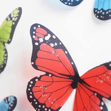 3d butterflies home decor wall stickers 18pcs for kids