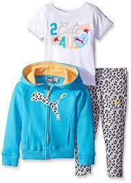 Puma Pants Meme - com puma girls 3 piece set zip jacket tee and pant clothing