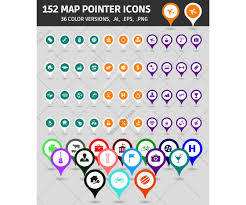 Map Marker Map Icons Ai Eps Png Map Pointers In Various Colors Map