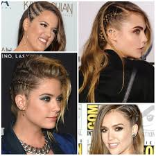 2016 celebrities with faux undercut braid hairstyles haircuts
