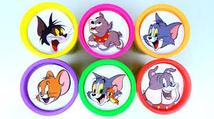 сups stacking surprise toys tom and jerry spike tyke learn numbers