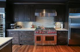 glass tile backsplash with dark cabinets glass tile backsplash kitchen contemporary with large wine
