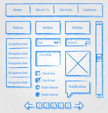 website design sketch style kit royalty free cliparts vectors