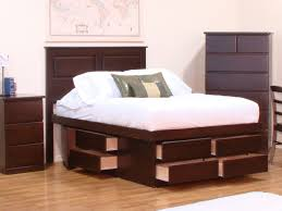 king platform beds with storage solid wood easy diy king