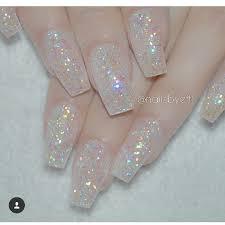 clear glitter acrylic nails nails pinterest glitter acrylics