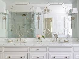 mirror on top of vanity mirror transitional bathroom