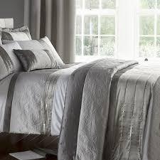 Catherine Lansfield Duvet Covers Gatsby Silver Bedding Duvet Sets Bedding Linen4less Co Uk