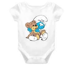 Baby Smurf Meme - smurf with bear custom baby one piece