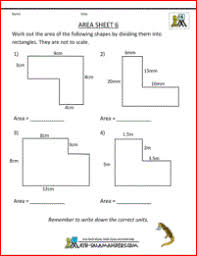 math worksheets 4th grade area 6 classroom pinterest area