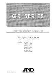 a u0026d scales gr series gr 200 pdf user u0027s manual free download u0026 preview
