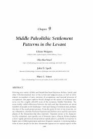 Resume Follow Up Email Sample by Middle Paleolithic Settlement Patterns In The Levant Springer