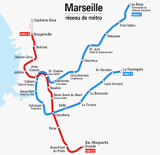 Marseilles France Map by Marseille Metro Map France