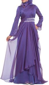 Stylish Long Sleeve Modest Formal Muslim Evening Dresses