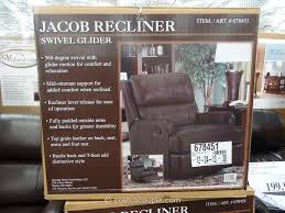 Costco Recliners Synergy Jacob Leather Swivel Glider Recliner Costco Furniture