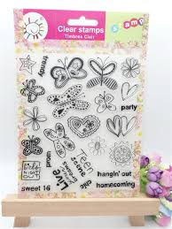 insect and butterfly design diy scrapbooking clear stamp for