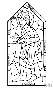 religious stained glass coloring page free printable coloring pages