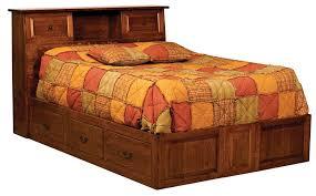 Bed Bookcase Headboard Escalade Bookcase Headboard Only Bed Buckeye Amish Furniture