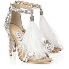 Wedding Shoes In Sri Lanka White Suede And Fix Crystal Embellished Sandals With An