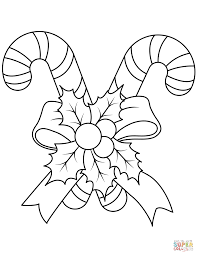 christmas candy canes coloring page free printable coloring pages