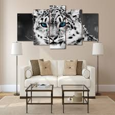 compare prices on snow white leopard online shopping buy low hd printed snow leopard black white picture painting wall art room decor print poster picture canvas