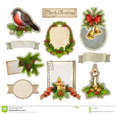 set of watercolor christmas drawings stock photos image 16722573