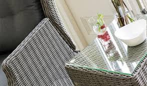 Kettler Jarvis Recliner Wicker 45x45cm Table Classic Garden Furniture