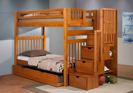 Stair Bunk Beds Staircase Bunk Bed Pecan Mattress Superstore