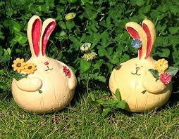 2pcs resin garden decoration rabbit decorations garden