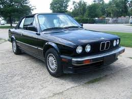 bmw e30 325i convertible for sale sell used 1987 bmw e30 325i convertible black with top