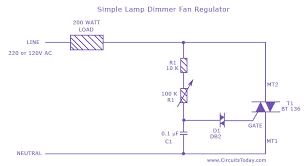 simple lamp dimmer fan regulator circuit