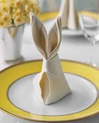 napkin folding for thanksgiving dinner bunny fold for napkins martha stewart