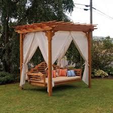 pergola swing cedar pergola swing bed stand 1 home design garden architecture