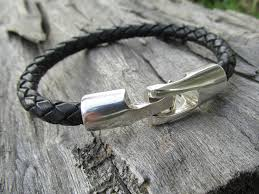 leather bracelet clasp images Toggle clasp leather bracelet rock hardware jewelry jpg