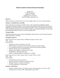 Customer Service Skills Resume Sample by Customer Resume Service Skill For Sales Associate With Experience