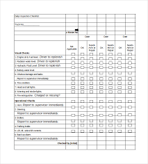 Home Inspection Template Excel Daily Checklist Template 18 Free Word Excel Pdf Documents