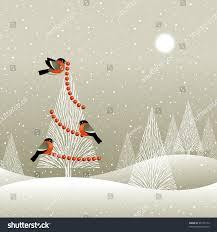 christmas tree winter forest stock illustration 90121174