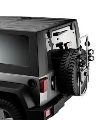 open jeep modified in black colour amazon com thule 963pro spare me 2 bike spare tire bike carrier