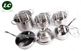 set ustensiles de cuisine batterie de cuisine ustensiles de cuisine casseroles inox haute