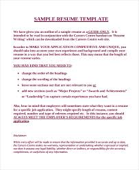 Sample Of Work Experience In Resume by Work Resume Template 11 Free Word Pdf Document Downloads