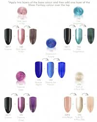 creating colour with the sheer fantasy collection nails