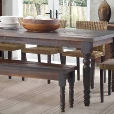 rustic dining table with bench rustic dining table ebay