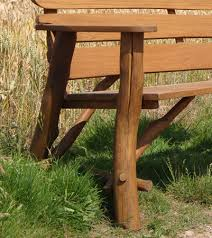 Rustic Oak Bench Memorial Benches Rustic Oak Bench 1200
