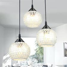 Pendant Lighting Glass Shades Living Room Pendant 3 Light Round Glass Shade Pendant Light For