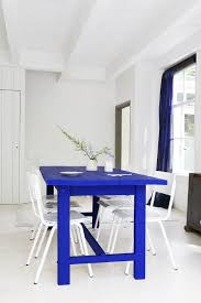 blue painted dining table i will make a table one day paint it my favorite in the city