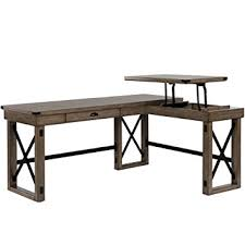 Amazon Com Ameriwood Home 9552096com Wildwood L Shaped Desk Rustic