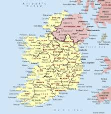 map of cities ireland map and ireland satellite images