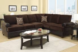 Leather And Suede Sectional Sofa Abbas Chocolate Microsuede Sectional Sofa A Sofa Furniture